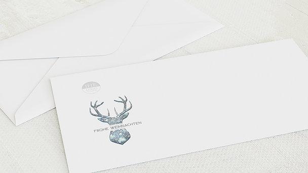 Umschlag mit Design Weihnachten Geschäftlich - Festliches Rentier