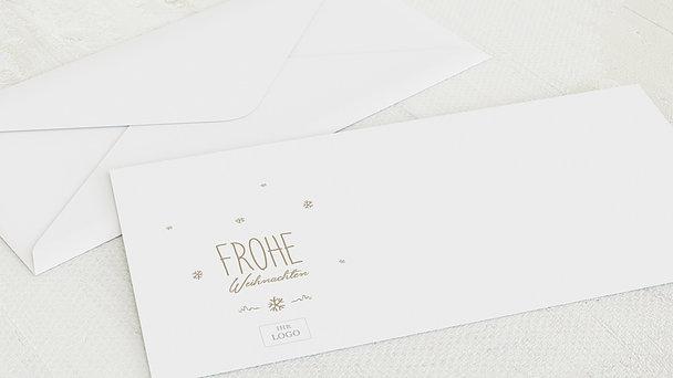 Umschlag mit Design Weihnachten Geschäftlich - Rustique