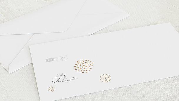 Umschlag mit Design Weihnachten Geschäftlich - Goldgefunkel