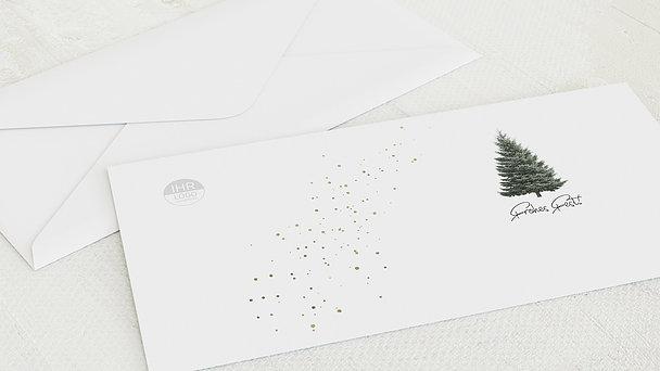 Umschlag mit Design Weihnachten Geschäftlich - Goldfunkel