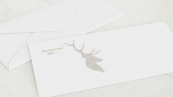 Umschlag mit Design Weihnachten Geschäftlich - Elchprofil