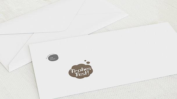 Umschlag mit Design Weihnachten Geschäftlich - Denkblase