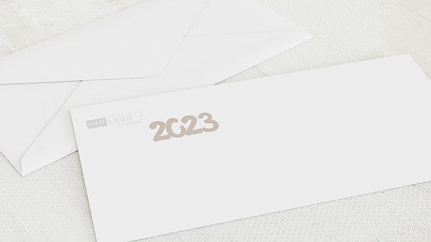 Umschlag mit Design Weihnachten Geschäftlich - Fototext Neujahr