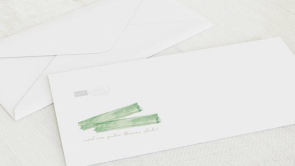 Umschlag mit Design Weihnachten Geschäftlich - Weihnachtsstreifen