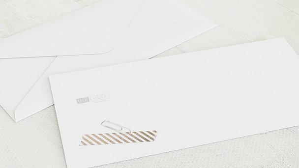 Umschlag mit Design Weihnachten Geschäftlich - Büroklammer