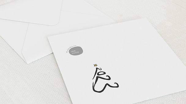 Umschlag mit Design Weihnachten Geschäftlich - Jahresbaum