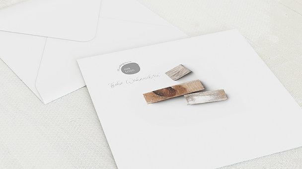 Umschlag mit Design Weihnachten Geschäftlich - Wooden tree