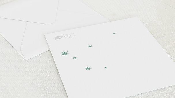 Umschlag mit Design Weihnachten Geschäftlich - Erste Schneeflocke