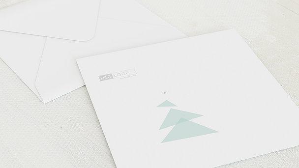 Umschlag mit Design Weihnachten Geschäftlich - Abstraktes Bäumchen