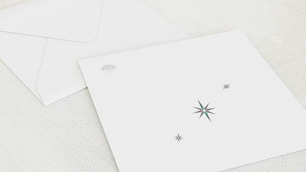 Umschlag mit Design Weihnachten Geschäftlich - Himmelssterne