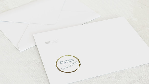Umschlag mit Design Weihnachten Geschäftlich - Blaupause