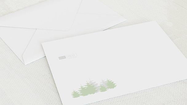 Umschlag mit Design Weihnachten Geschäftlich - Weihnachtswald