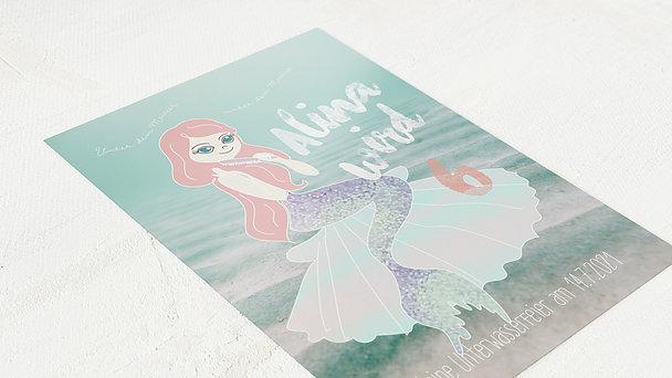 Einladungen für Kindergeburtstag - Kleine Meerjungfrau