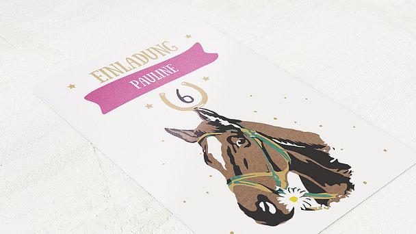 Einladungen für Kindergeburtstag - Pferdeglück
