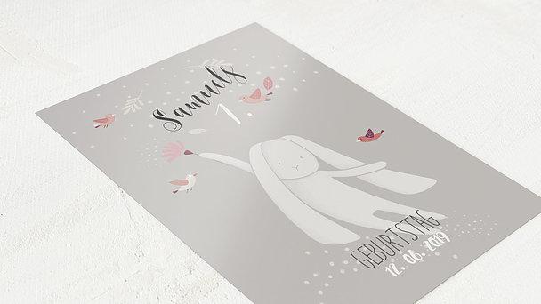 Einladungen für Kindergeburtstag - Schneehäschen