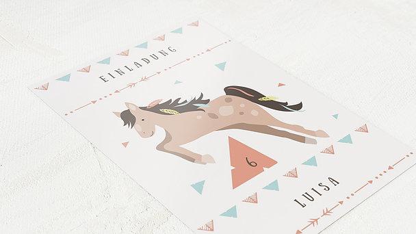 Einladungen für Kindergeburtstag - Wilder Mustang
