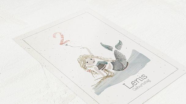 Einladungen für Kindergeburtstag - Sissi Fischschwanz