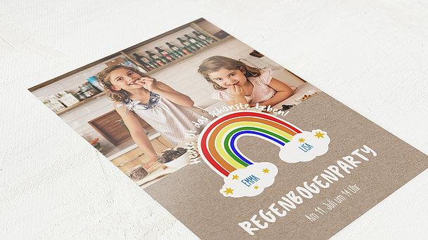 Einladungen für Kindergeburtstag - Regenbogenparty