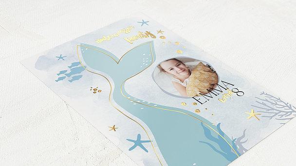 Einladungen für Kindergeburtstag - Walflosse
