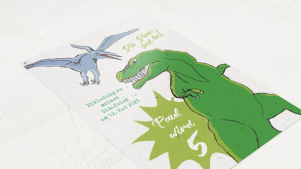 Einladungen für Kindergeburtstag - Die Dinos sind los