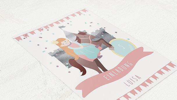 Einladungen für Kindergeburtstag - Königstochter