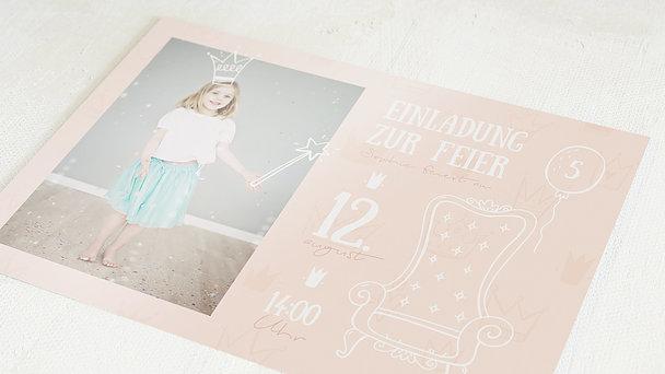 Einladungen für Kindergeburtstag - Prinzesschen