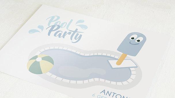 Einladungen für Kindergeburtstag - Pool Party