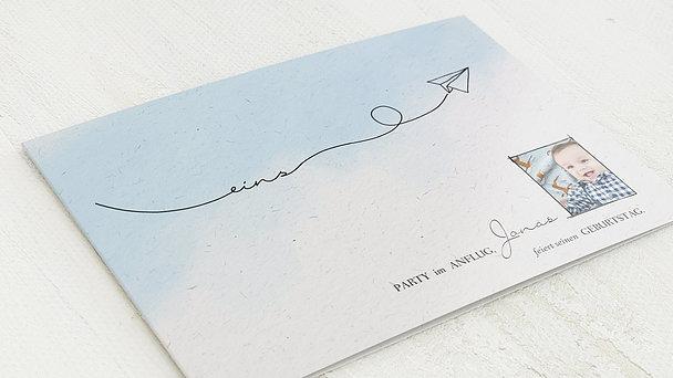 Einladungen für Kindergeburtstag - Papierflieger