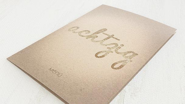Menükarten Geburtstag - Goldener Tag 80