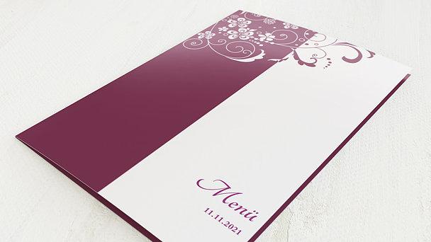 Menükarten Geburtstag - Blütenkarte