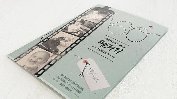 Menükarten Geburtstag - Filmstreifen 60