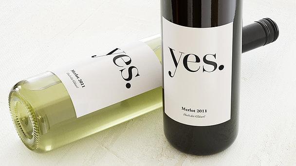 Weinetiketten Hochzeit - Yes, I will