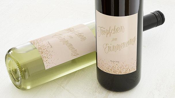 Weinetiketten Hochzeit - Geflitter