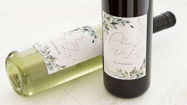 Weinetiketten Hochzeit - Tender Florals