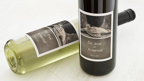 Weinetiketten Hochzeit - Getäfelt