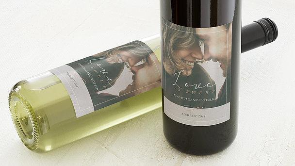 Weinetiketten Hochzeit - Plötzlich Liebe