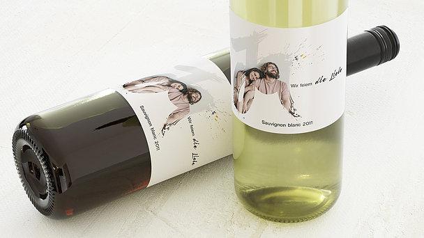 Weinetiketten Hochzeit - Liebesenergie