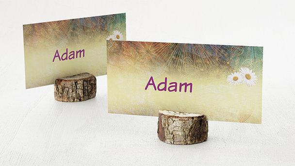 Tischkarten für Ihre Geburtstagsfeier - Hippie Birthday