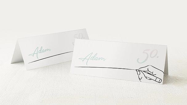 Tischkarten für Ihre Geburtstagsfeier - Handgeschrieben