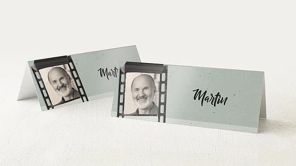 Tischkarten für Ihre Geburtstagsfeier - Filmstreifen 60