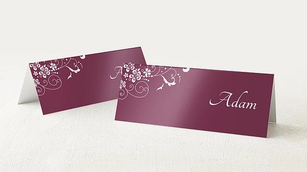 Tischkarten für Ihre Geburtstagsfeier - Blütenkarte
