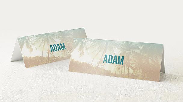 Tischkarten für Ihre Geburtstagsfeier - Palm Beach Birthday