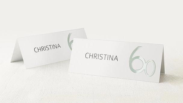 Tischkarten für Ihre Geburtstagsfeier - Tolle Nummer 60