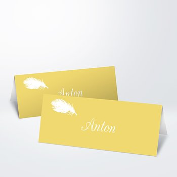 Tischkarten - Feder
