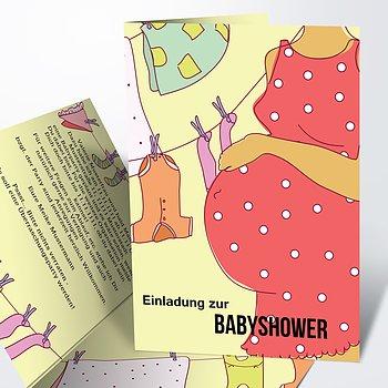 Babyshower - Wäscheleine