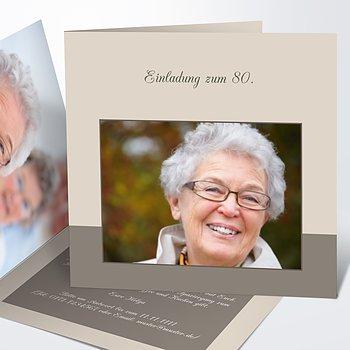 Geburtstagseinladungen   Lebensfreude 80
