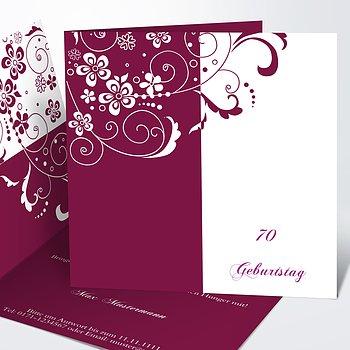 Geburtstagseinladungen   Blütenkarte