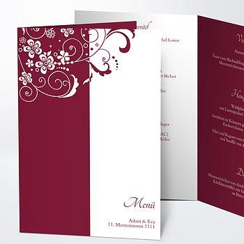 Menükarte Hochzeit - Garten der Träume