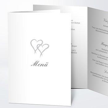 Menükarte Hochzeit - Mein Herz