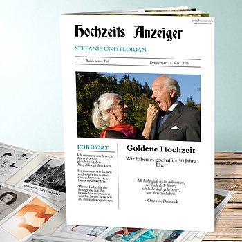Festzeitung Goldene Hochzeit Zeitung Detail